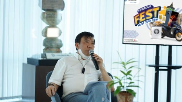 CEO FIFGROUP, Margono Tanuwijaya, dalam pembukaan FIFGROUP FEST yang akan di selenggarakan mulai tanggal 18 Juni hingga 27 Juni 2021 khusus untuk warga Banjarmasin