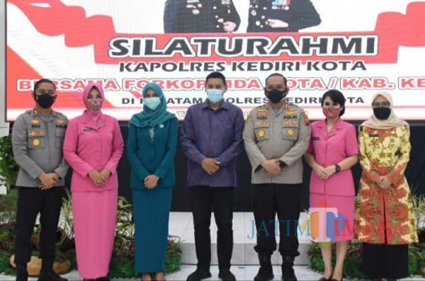 Wali Kota Kediri Abdullah Abu Bakar saat menghadiri silaturahmi di Mapolresta Kediri.(ist)