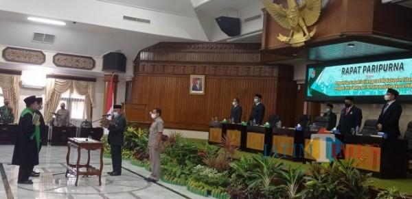 Pelantikan Pergantian Antar Waktu atau PAW anggota DPRD Tuban Fraksi Partai Kebangkitan Bangsa di Gedung DPRD Tuban (Foto: Ahmad Istihar /Jatim TIMES)