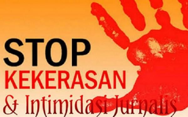 Ilustrasi stop kekerasan kepada jurnalis.(portalsurabaya)
