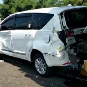 Akibat Rem Blong, 8 Mobil Terlibat Kecelakaan Beruntun di Lumajang