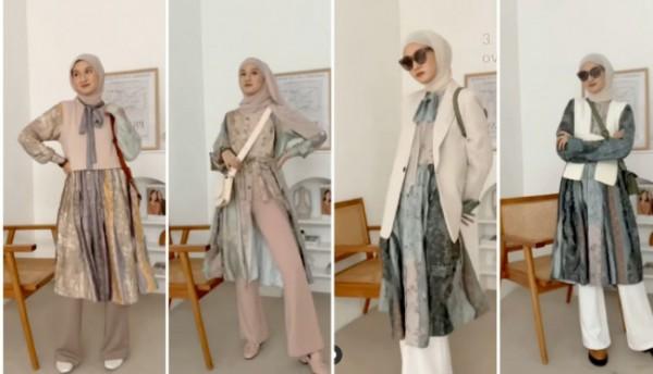 Mix and match printing tunik dengan berbagai outfit untuk tampil lebih modis. (Foto: Instagram @inasrana).