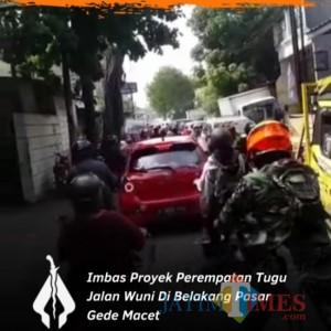 Imbas Pembangunan Proyek Tugu, Jalan Alternatif di Jalan Wuni Macet