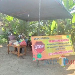 Diduga Klaster Hajatan, Dusun Rowotrate Dijaga Ketat Polisi dan TNI