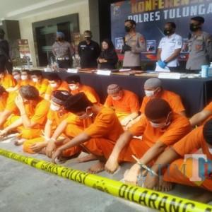 Polres Tulungagung Ungkap Puluhan Kasus Narkoba, Seratus Tersangka Diamankan