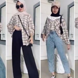 Tips Mix and Match Flanel Shirt untuk 4 Outfit Berbeda, Cocok Buat Jalan saat Weekend Nih!