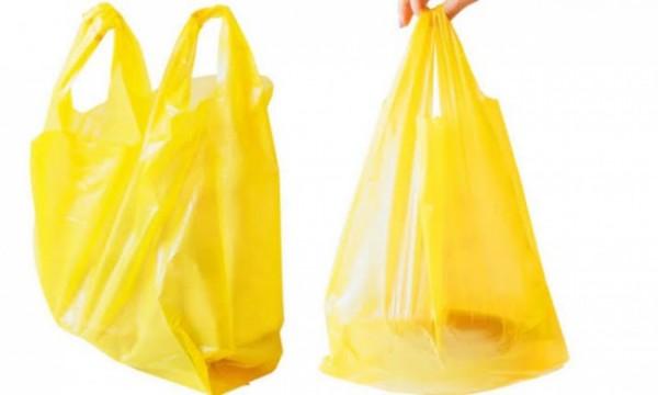Ilustrasi kantong plastik berwarna kuning. (Foto: aktualitas.id)