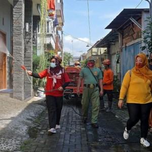 Antisipasi Penyebaran Covid-19, BPBD Kota Kediri Semprotkan Disinfektan Setiap Hari