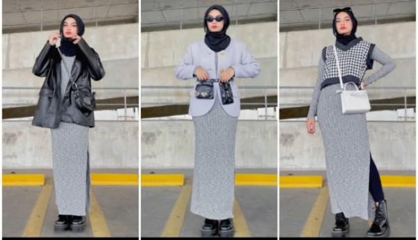 Padu padan outfit penunjang basic dress untuk tampil lebih fashionable. (Foto: Instagram @adiva.selsa).