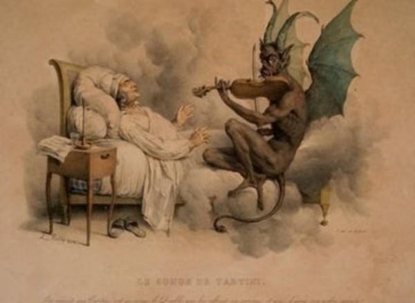 Ilustrasi iblis membangunkan manusia (nationalgeographic)