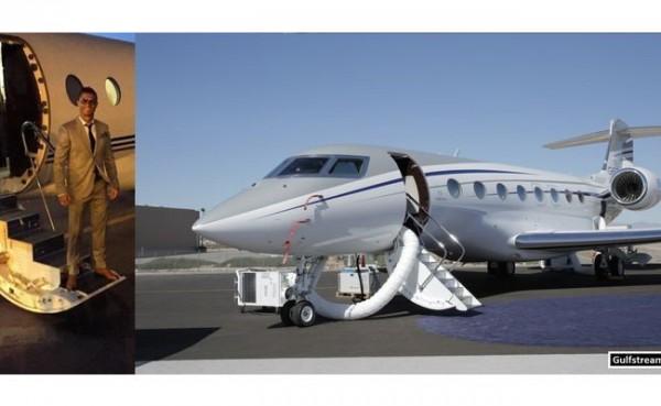 Salah satu jet pribadi yang dimiliki Cristiano Ronaldo. (Foto: The Sun)