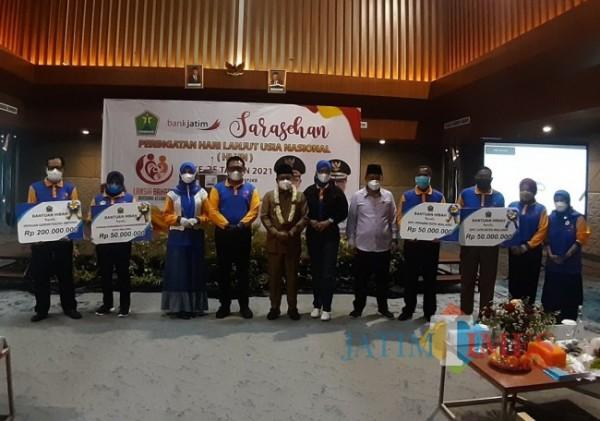 Suasana peringatan HLUN yang digelar Dinsos-P3AP2KB Kota Malang di Rayz Hotel UMM, Senin (28/6/2021). (Arifina Cahyanti Firdausi/MalangTIMES).