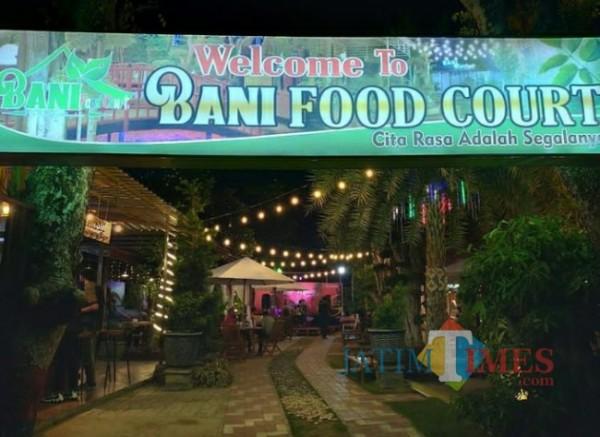 Cafe dan Resto Bani Food Court yang ada di jalan Bonorogo Kelurahan Lawangan Daya Pamekasan (Foto: Ist/Jatimtimes.com)
