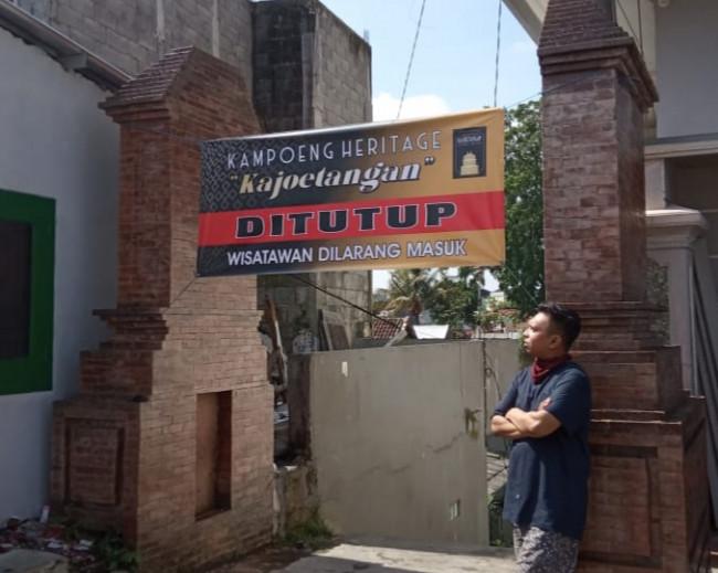 Kawasan Kampoeng Heritage Kajoetangan ditutup untuk wisatawan. (Foto: Istimewa).
