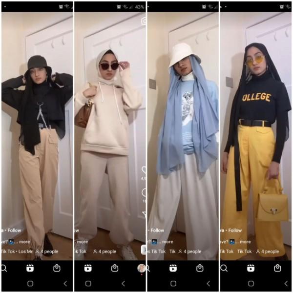 Inspirasi outfit street style ala hijabers. (Foto: Instagram @zainabjiwa).