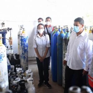 Pastikan Stok Oksigen Aman, Wali Kota Kediri Lakukan Sidak
