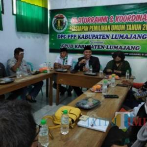 KPU Silaturahmi ke Kantor DPC PPP Lumajang Untuk Persiapkan Pemilu 2024