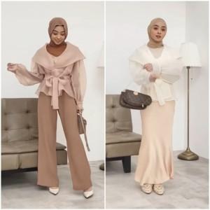 Tak Pakai Batik Ataupun Dress, Inspirasi Outfit Kondangan Simple nan Elegan ala Hijabers
