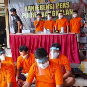Polisi Ringkus Sembilan Tersangka Narkoba di Bangkalan