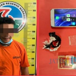 Ngopi di Warung Tengah Sawah, Pria Pengedar Sabu Ini Ditangkap Polisi