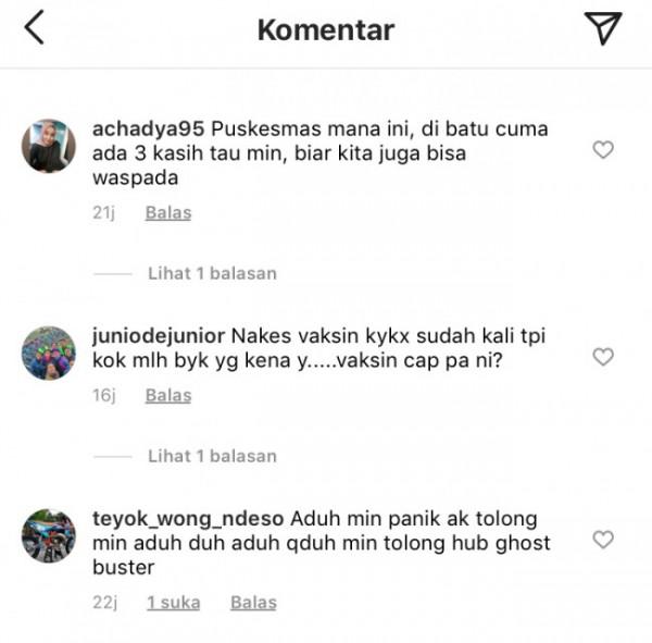 Komentar warganet di Instagram @ngalamlop terkait kabar nakes positif covid-19 yang tetap disuruh bekerja.