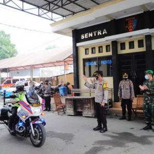 PPKM Darurat Diberlakukan, Pasukan Gabungan Kediri Patroli Hari Pertama