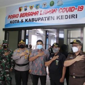 Gelar Pasukan Operasi Aman Nusa II Lanjutan, Kapolres Kediri Tekankan Edukasi Prokes