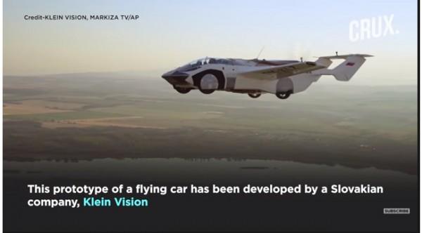 Mobil terbang (Foto: YouTube CRUX)