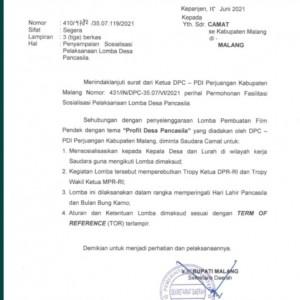 Kontroversi Surat Sekda Kabupaten Malang, Ini Isinya