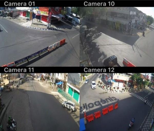 Kondisi arus lalu lintas dari bebeapa CCTV di simpang Lippo Plaza Batu.