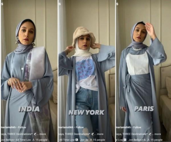 Cara pakai abaya dari beberapa negara untuk tampil lebih elegan nan cantik. (Foto: Instagram @mariamshkh)