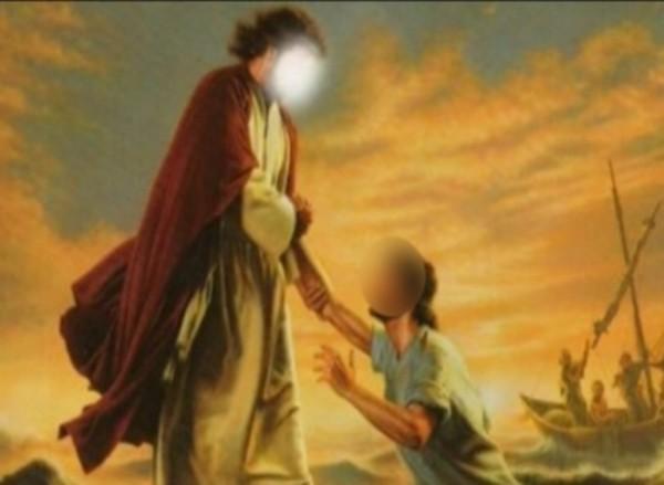 Ilustrasi iblis yang menggoda Nabi Isa AS (Tafakkur Fiddin)