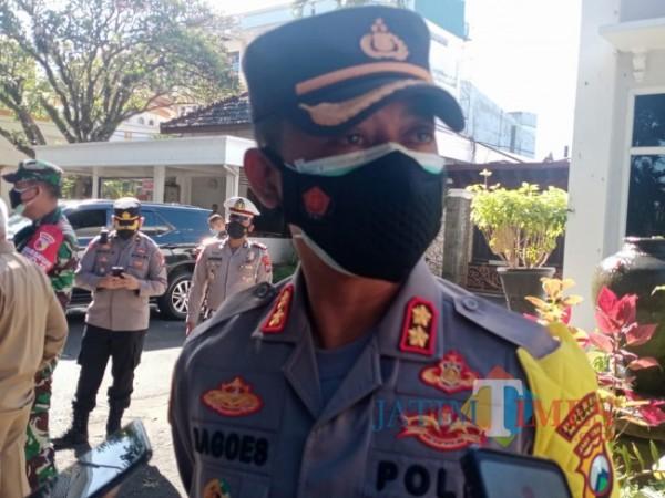 Kapolres Malang AKBP R Bagoes Wibisono HK saat dijumpai di Peringgitan Pendapa Kabupaten Malang. (foto: Hendra Saputra/MalangTIMES)