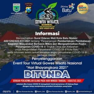PPKM Darurat, Sederet Event Besar di Kota Batu Ditunda!