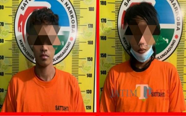 Tersangka Util dan Gondrong / Foto : Dokpol / Tulungagung TIMES