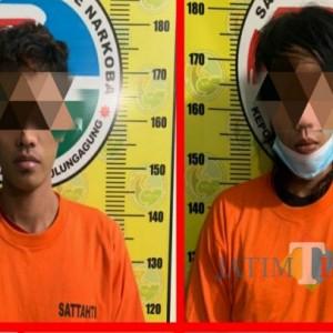 Gondrong dan Util, Dua Pemuda asal Tulungagung Meringkuk di Kantor Polisi karena Jualan Sabu