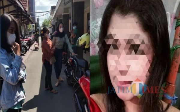Beberapa korban saat di Polres dan foto terlapor AF / Foto : Istimewa / Tulungagung TIMES