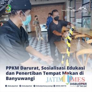 Disbudpar Banyuwangi Dukung Penuh Pelaksanaan Sosialisasi PPKM Darurat