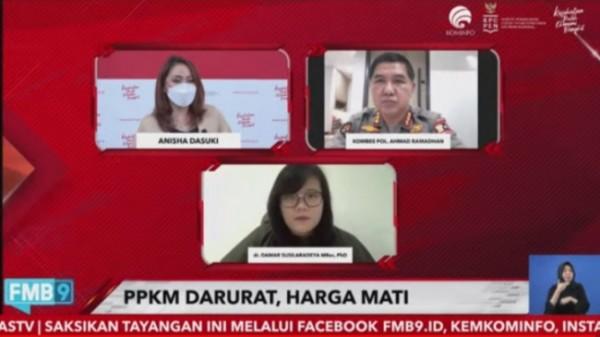Dialog Dialog Produktif yang diselenggarakan Komite Penanganan COVID-19 dan Pemulihan Ekonomi Nasional(KPCPEN) yang disiarkan secara live streaming YouTube (Ist)