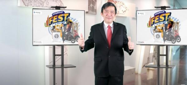 FIFGROUP FEST kembali memperluas jangkauan pelayanannya dan kini hadir di Jawa Timur, ini menjadi ke sembilan kalinya pengadaan FIFGROUP FEST di tahun 2021. CEO FIFGROUP, Margono Tanuwijaya, mengatakan FIFGROUP FEST sebagai alternatif solusi pembiayaan pada saat pembukaan FIFGROUP FEST