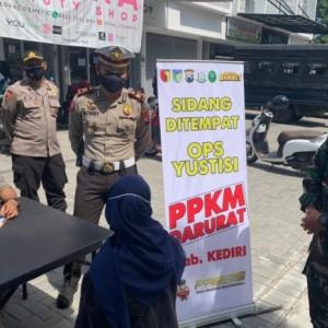 Tegakkan PPKM Darurat, Polres Kediri Gelar Operasi Yustisi