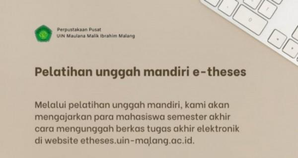 Pelatihan E-Theses UIN Maliki Malang (Ist)