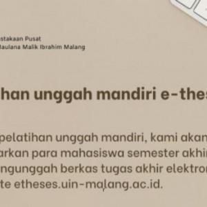 Wajib Setor Karya, Mahasiswa Semester Akhir UIN Maliki Malang Dapat Pelatihan Khusus ini