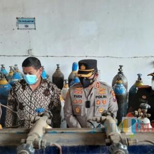 Sidak Distributor, Wali Kota Kediri Pastikan Pasokan Oksigen Aman