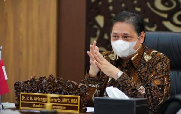 Ketua KPCPEN Airlangga Hartarto (Foto: Dok Kementerian)