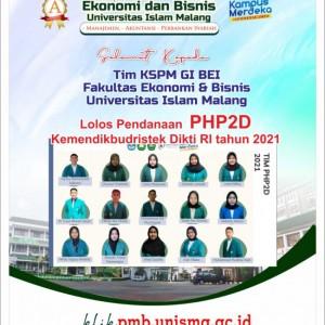 Membanggakan, Mahasiswa FEB Unisma Lolos PHP2D 2021