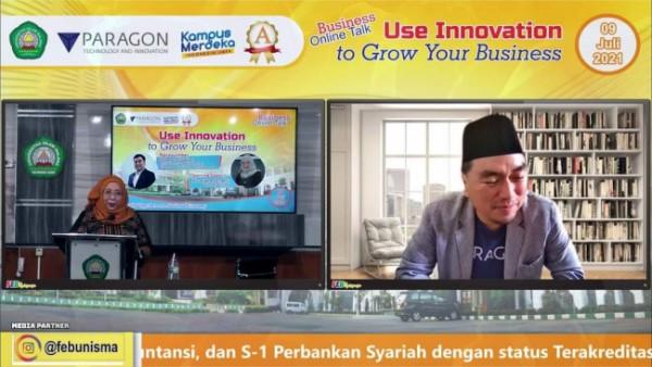gelaran Business Online Talk dengan tema Use Innovation to Grow Your Business (Ist)