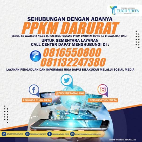 Poster informasi layanan yang diberikan oleh Perumda Air Minum Tugu Tirta Kota Malang. (Foto: Perumda Tugu Tirta)