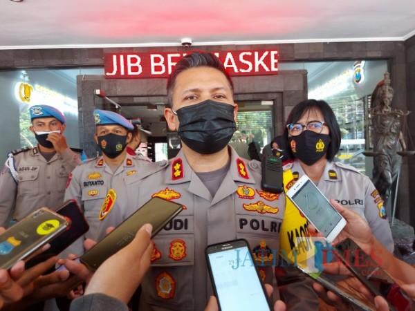 Kapolresta Malang Kota AKBP Budi Hermanto saat ditemui MalangTIMES.com di Mapolresta Malang Kota, Rabu (14/7/2021). (Foto: Tubagus Achmad/MalangTIMES)