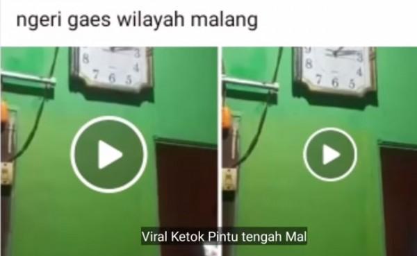 Viral ketok pintu tengah malam (Foto: YouTube Sesa Ahza